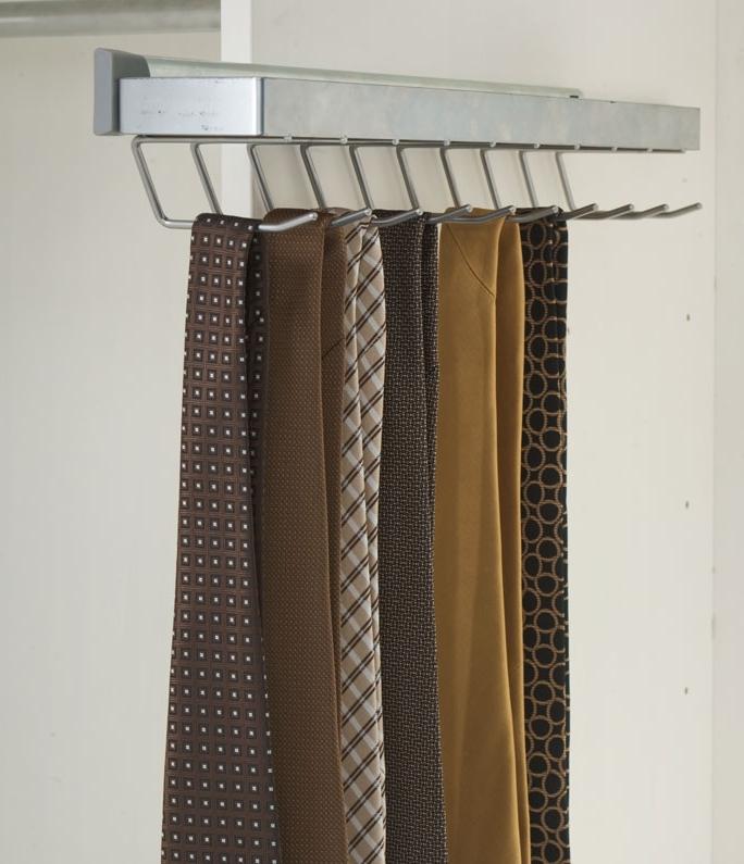 Выдвижной механизм в шкаф купе для галстуков